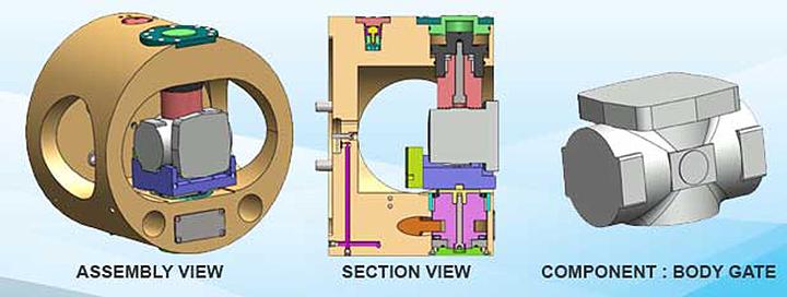 chuck for machining valve bodies