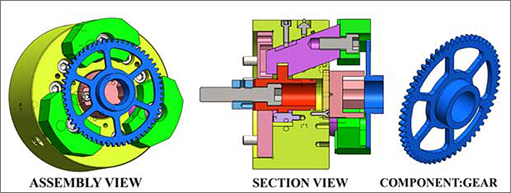 Pull down Chuck for machining gears